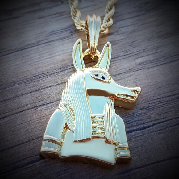 14k Gold Plated Anubis Egyptian God 24
